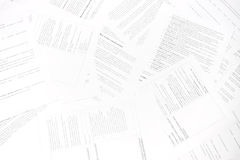 Bureaucracy. Chaos of documents Royalty Free Stock Photos