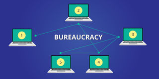 Bureaucracy concept illustration step Stock Images