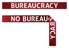 Bureaucracy Red Tape. Bureaucracy and No Bureaucracy Red Tape Illustrations (eps v.10) - [jpg file also has clipping path Royalty Free Stock Photo