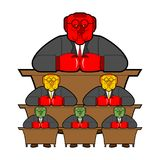 Bureaucracy system government officials State employee Cartoon s Royalty Free Stock Photography