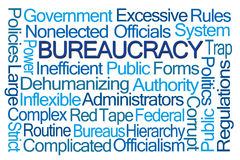 Bureaucracy Word Cloud Royalty Free Stock Image