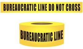 Bureaucratic line do not cross Royalty Free Stock Photos