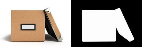 Bureaudocument vakje voor documenten 3d illustratie op wit met alp royalty-vrije illustratie