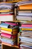 Bureaudossiers en documenten Stock Foto