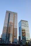 Bureaugebouwen in Tokyo, Japan Stock Foto's
