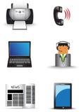 Bureauinformatietechnologie het leveringspictogram plaatste (vec Royalty-vrije Stock Foto's