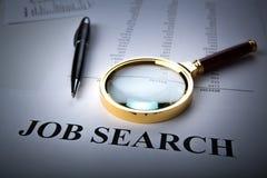 Bureaulevering en baanonderzoek stock foto