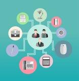 Bureaulevering en bedrijfsvector vector illustratie