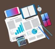 Bureaulevering op de lijst vector illustratie
