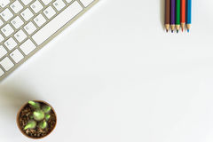 Bureaulevering, toetsenbord Royalty-vrije Stock Foto's
