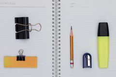 Bureaupunten en bedrijfselementen Stock Afbeeldingen