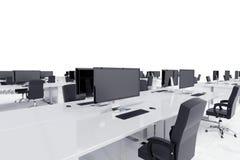 Bureaus in een open plek vector illustratie
