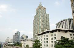Bureaus en flats, Lumpini-district, Bangkok stock afbeelding