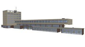 Bureaus en handelscentrum stock illustratie