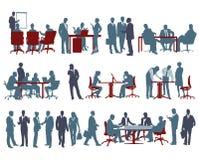 Bureauscènes vector illustratie