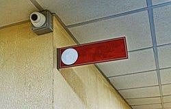 Bureauteken, toezichtcamera, bureau, muur, exemplaarruimte royalty-vrije stock foto's