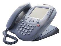 Bureautelefoon op wit Stock Fotografie