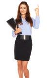 Bureauwerknemer op een witte achtergrond stock foto