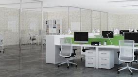 Bureaux Conception de bureau rendu 3d Image libre de droits
