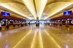 Bureaux d'enregistrement d'aéroport de Taoyuan Photos libres de droits