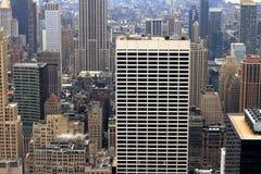 Bureaux et appartements de Manhattan Photos libres de droits