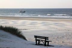 Bureblinkert на пляже Ameland, Голландии Стоковые Фотографии RF