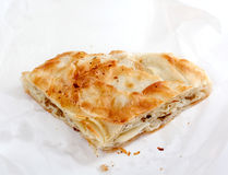 Burek用肉,传统巴尔干食物, 库存图片
