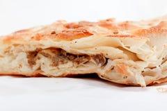 Burek with meat , a traditional Balkan food,. Picture of a Burek with meat , a traditional Balkan food stock photos