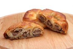 Burek paj med kött, ost eller spenat royaltyfri bild