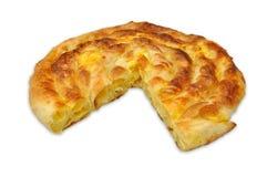 Burek sa sirom. Serbian stile pastries -  Domaci burek sa sirom, savijaca Stock Image