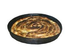 Burek tradicional de Gorani Kosovo Frescor, massa imagens de stock