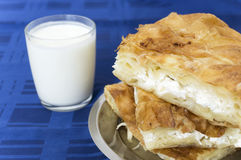 Burek and yogurt Stock Photography