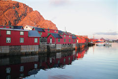 Burekka  of Stamsund and boat Stock Images