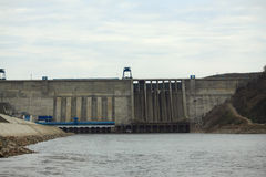 Bureya Dam in the Russian Far East Royalty Free Stock Photography