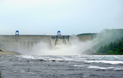 Bureya hydroelektryczna elektrownia Obraz Stock