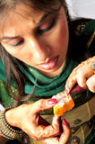 Burfee dolce indiano fotografie stock