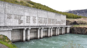 Burfell hydropower station Royalty Free Stock Image