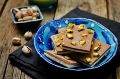 Burfi σοκολάτας Ινδικά γλυκά στοκ φωτογραφία