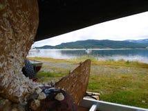 Burfjord挪威海湾港口5 库存图片
