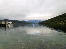 Burfjord挪威海湾港口3 免版税库存图片