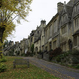 Burford Village. Typical Cotswold houses in Burford and autumn country scene Royalty Free Stock Photography