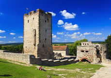 Burg. Old burg in Nagyvazsony in sommer, Hungary stock image