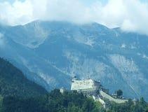 Burg antique Hohenwerfen, Salzburgerland photographie stock libre de droits