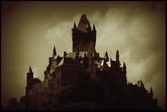 Burg Cochem Dunkelheit lizenzfreies stockfoto