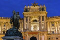 Burg de Neue à Vienne en Autriche image libre de droits
