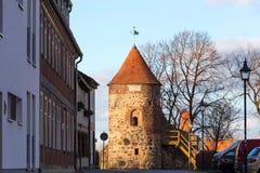 Burg de ville historique près de Magdebourg Allemagne images stock