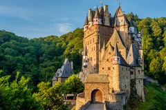 Burg Eltz castle in Rhineland-Palatinate, Germany. Burg Eltz castle in Rhineland-Palatinate state, Germany. Construction startedprior to 1157 royalty free stock photo