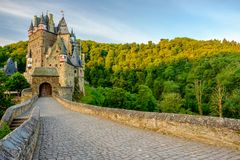 Burg Eltz castle in Rhineland-Palatinate, Germany. Burg Eltz castle in Rhineland-Palatinate state, Germany. Construction startedprior to 1157 Stock Photography