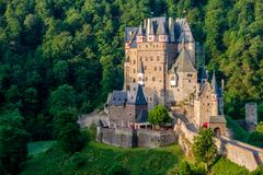 Burg Eltz castle in Rhineland-Palatinate, Germany. Burg Eltz castle in Rhineland-Palatinate state, Germany. Construction startedprior to 1157 stock photography
