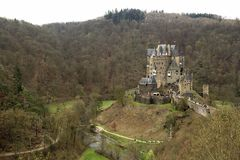 Burg Eltz castle in Rhineland-Palatinate state, Germany. stock photography